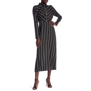 🐎Abound Striped Button Front Maxi Dress